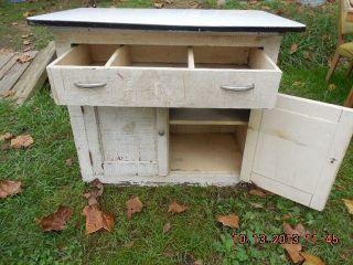 Antique Hoosier Cabinet Bottom Porcelain Top Primitive Cabinet PU Oh 45113
