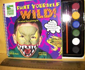 New Paint Yourself Wild Craft Kit Idea Book Animal Planet Face Art Supplies Set