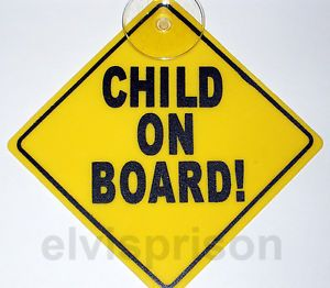 2X Child on Board Safety Plastic Sign Auto Car Window Suction Cup Baby Warning