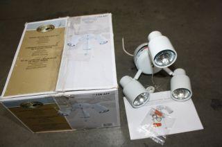 Hampton Bay LK054 WH 3 Light White Finish Ceiling Fan Light Kit Lighting