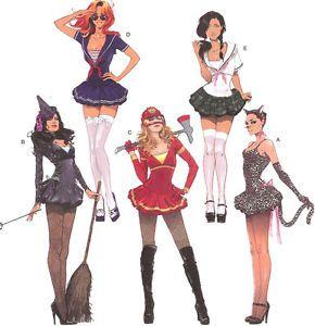 Sexy Anime Manga School Girl Costume Pattern Simplicity 2072 Sailor Moon Sz 6 22