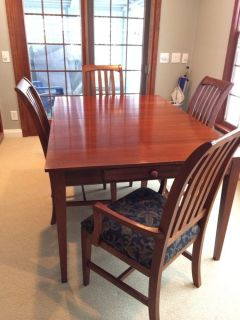 Ethan Allen American Impressions Dining Table 5 Chairs