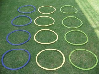 New Football Agility Training Equipment Speed Accuracy Ring Set 12 Rings