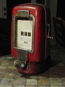 Original Eco Air Meter Tireflater Model 97 Air Pump for Vintage Gas Station