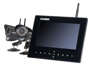 Lorex Live SD9 4 Channel 2 Camera Indoor Outdoor Wireless Monitoring System