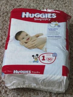 Huggies Snug Dry Disposable Diapers Size 1 50 Count 8 14 Lbs