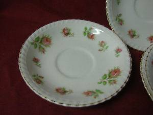 Johnson Brothers China Dinnerware English Rose Pink Rose Set 4 Sauce