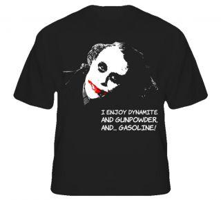 Joker Heath Ledger Dark Knight Comic Movie T Shirt T Shirt