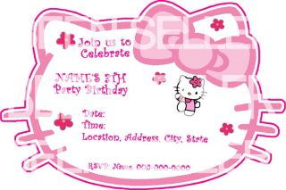 Hello Kitty Birthday Stickers Candy Wrappers Personalized Invites