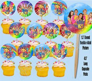 "Hi 5 TV Series 1 5"" Cupcake Picks Cake Topper 12 Pcs"