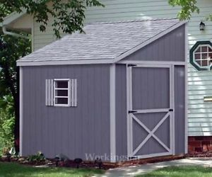 6'x10' Slant Lean to Style Shed Plans See Samples