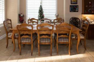 """Ethan Allen Legacy 104"""" Dining Table w 8 Chairs Local Pickup Only"""