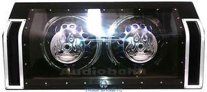 "ABP102J Audiobahn Dual 10"" Subs Loaded Subwoofers Speakers Enclosure Box"