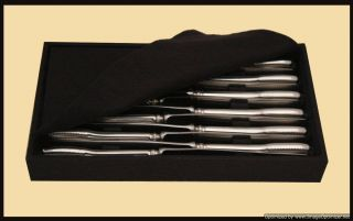 Christofle Sterling Silver Flatware Set 12 Storage Trays 9 Serving Pieces
