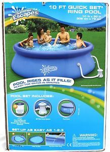Brand New Summer Escapes 10 ft Ring Pool Filter Pump System Chlorinator