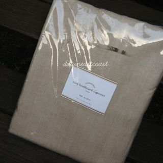 New Pottery Barn Riley Headboard Slipcover Full Natural Linen NIP