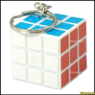 Mini Magic Rubix Rubik Cube Puzzle Game Key Chain Toy
