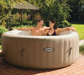 Intex Pure Spa Deluxe Inflatable 4 Person Portable Spa Hot Tub Jacuzzi