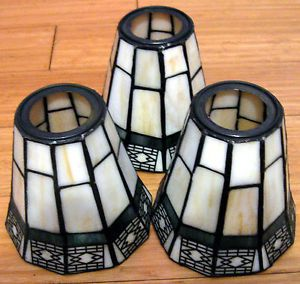 Stained Glass Tiffany Style Lamp Shades – Set of Three