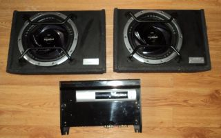 Car Set Up Sony Xplod 1200W Power Amplifier 2 Low Profile SEALED Subwoofers
