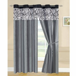 "2pcs 58"" x 84"" Kelly Blackout Grommet Curtains Panels Window Coverings White"