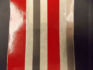 """Misty Harbor 1560 Pin Stripe Decal Tape Red Grey Bronze 4 5 8"""" x 150' ft Boat"""