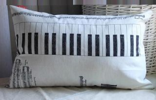 Mozart Music Note Cushion Cover Home Decor Decorative Pillows