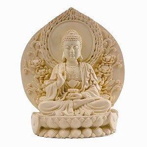 Buddha Natural Resin Figure Statue Home Decor 41428