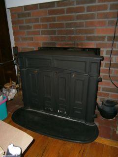 Vintage Franklin Wood Burning Stove Fireplace Insert