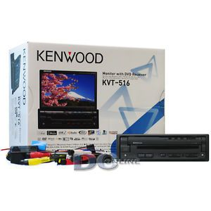 "Kenwood KVT 516 7"" Flip Out LCD Touchscreen Car DVD CD Stereo w USB Port"