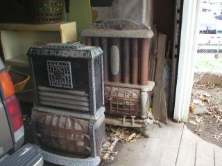 Cast Iron Gas Heating Stove Artisan and with A History