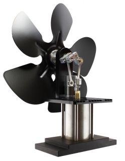 Vulcan Heat Powered Wood Burning Stove Top Fan Eco Friendly