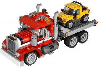 Lego 7347 Creator Highway Pickup Rescue Truck 3in1 Crane Truck Sports Car New 5702014840027