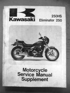 Kawasaki Supplement Service Manual 88 91 EL250 B2 B3 E1