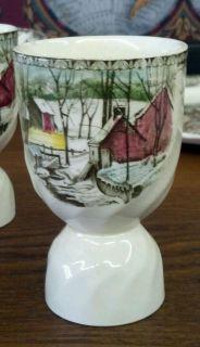 Johnson Brothers Friendly Village Barn Scene Egg Cups