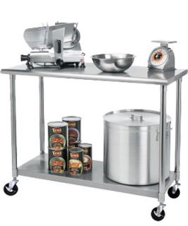 Rolling wheeled storage cart on popscreen - Commercial kitchen tables on wheels ...
