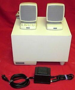 Altec Lansing Computer Speaker System w Downfiring Subwoofer ACS340 SN 21986943402