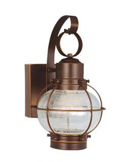 New 3 Light Nautical Solid Brass Outdoor LED Wall Lamp Lighting Fixture Bronze