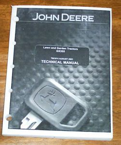 John Deere GX355 Lawn and Garden Tractor Technical Manual TM1974