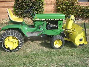 John Deere 140 H 3 Lawn Garden Tractor w Mower and Snow Blower