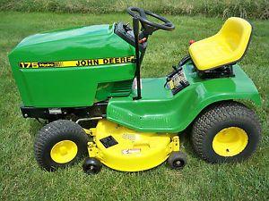 "John Deere Lawn Tractor Model 175 Hydro with 38"" Mower 14 HP Kawasaki Engine"
