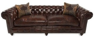 Tufted Leather Sofa Kensington Chesterfield Restoration Style