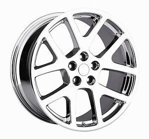 "22"" Viper SRT8 Chrome Wheels Rims Tires Fit Dodge Charger Magnum 300C Challenger"