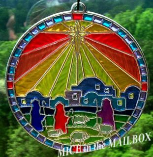 Colors of Christmas Star Over Bethlehem 1979 Hallmark Ornament Tiffany Classics
