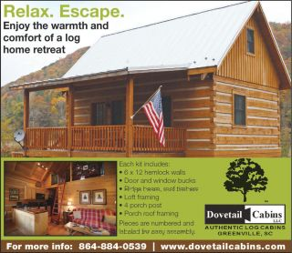 Appalachian Dovetail Log Cabin Kit 18'x26' Hemlock Timbers