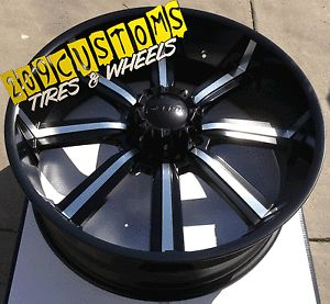 "26 inch 26"" Dcenti 903 Black Wheels Rims Tires 8x165 315 40 26 Hummer H2 2003"