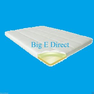 """4"""" Pressure Relief Memory Foam Mattress Topper Bed Pad King Queen Full Twin Size"""