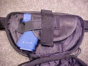 Concealment Gun Leather Fanny Pack Small Glock 27 26