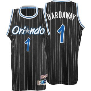 Penny Hardaway Jersey Adidas Black Throwback Swingman 1 Orlando Magic Jersey