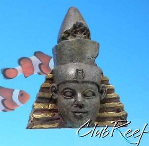 Egyptian Statue Bust Resin Small Aquarium Ornament